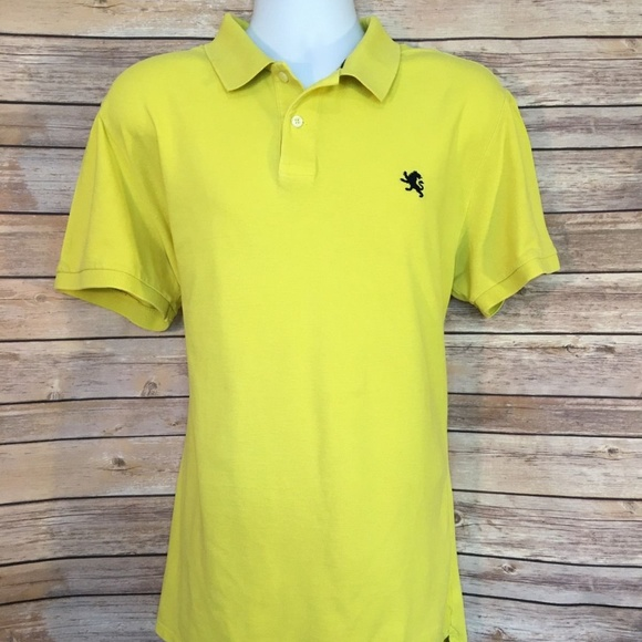 Express Mens Fitted Polo Shirt 2XL XXL yellow